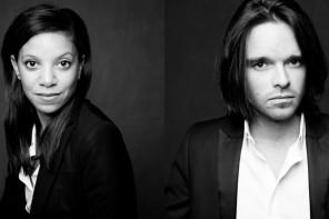 Portrait studio noir et blanc