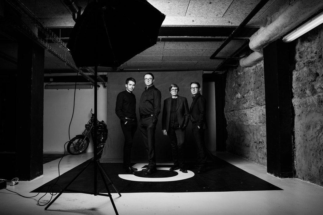 portrait corporate noir et blanc