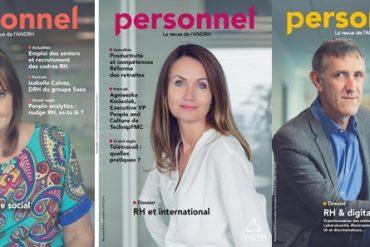 couvertures de magazine avec portrait editorial en couleur