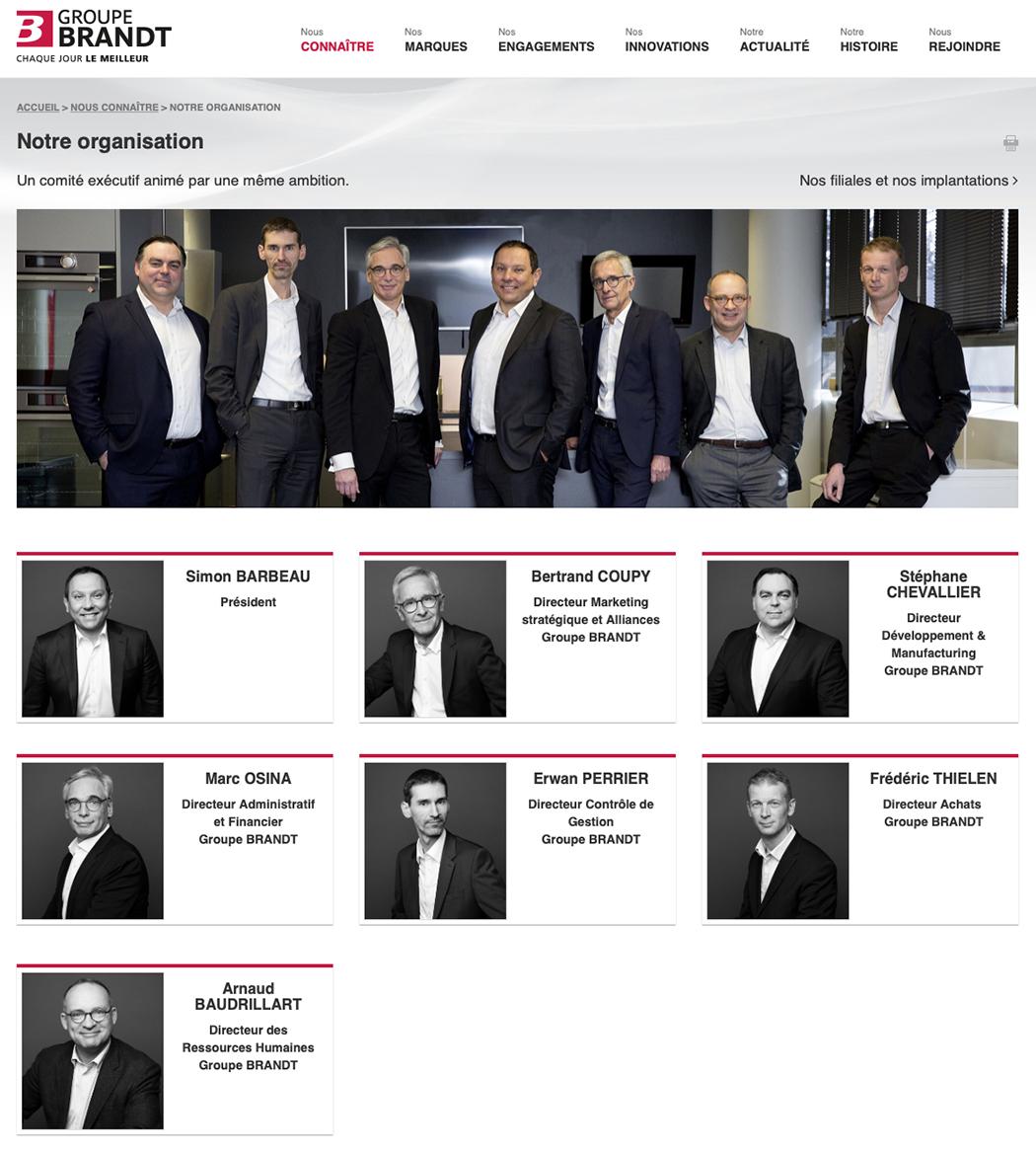 Portrait Pro Groupe Brandt