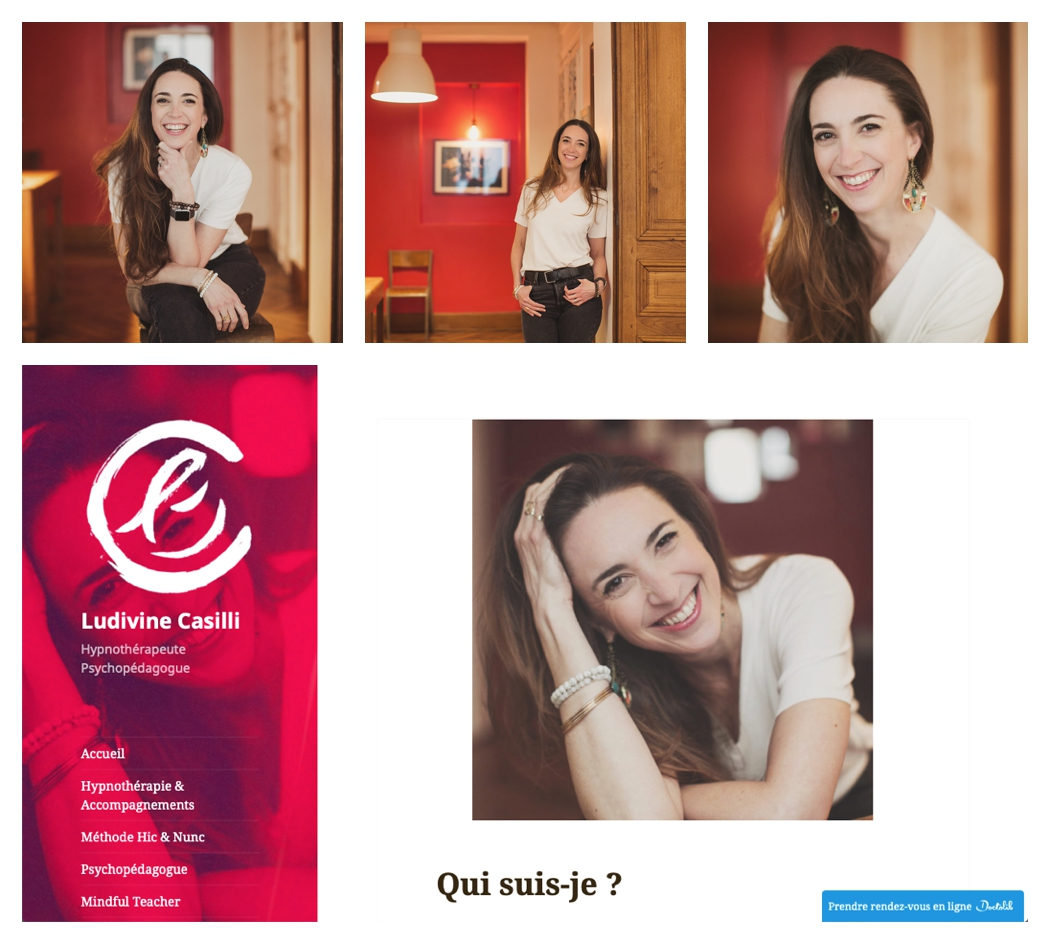 Portrait en situation de Ludivine Casilli